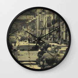 Sorrento street postcard Wall Clock
