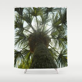 Palm Tree in The Sky Shower Curtain