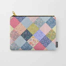 Bohemian diamond patchwork quilt Carry-All Pouch