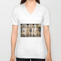 nemo V-neck T-shirts featuring Captain Nemo by InogitnaDesigns