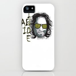 The Dude - Big Lebowski INK iPhone Case