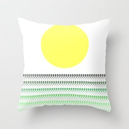 Sunset @ Sunrise (Green) Throw Pillow