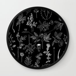 Nature Botanical Drawings by young kid artists, profits are donated to The Ivy Montessori School Wall Clock