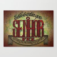 lettering Canvas Prints featuring Lettering by MarcosDevelop