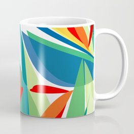 Tropical floral composition, exotic flowers, birds of paradise. Coffee Mug