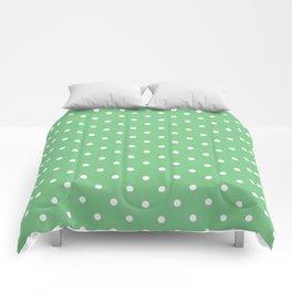 Sage Polka Dots Comforters