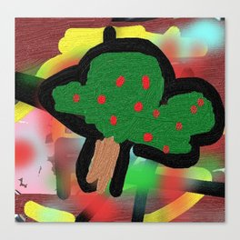The small apple tree Canvas Print