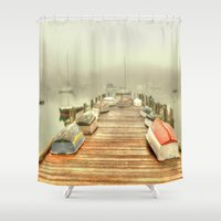 cape cod Shower Curtains featuring Cape Cod Mornings 2 by Raymond Earley