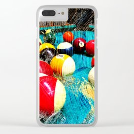 Modern billiards and pool art 3 Clear iPhone Case