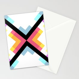 Abstract Retro Pattern 05 Stationery Cards