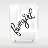 fangirl Shower Curtains featuring fangirl by Fortissimo6