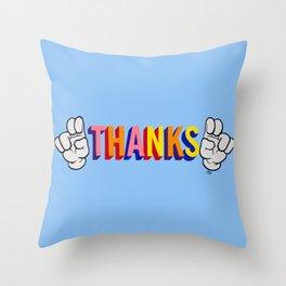 """""""Thanks"""" Throw Pillow"""