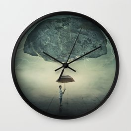 mystic umbrella protection Wall Clock