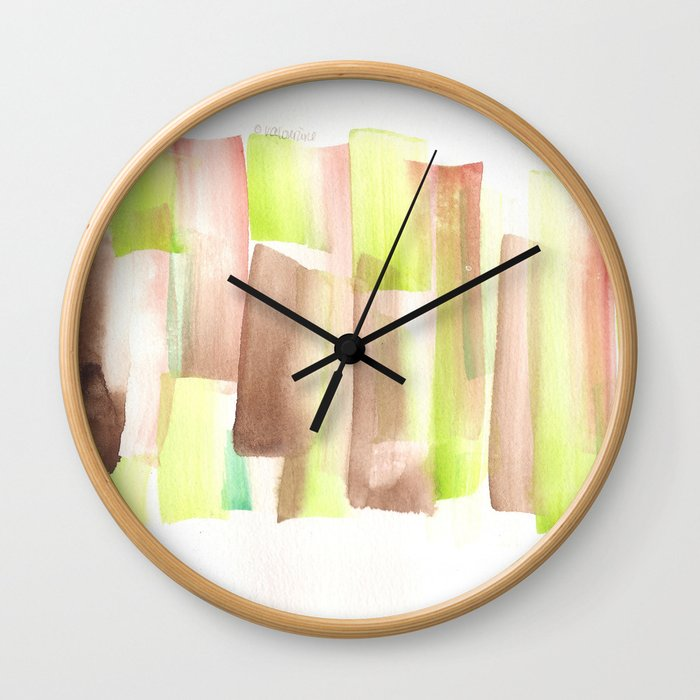 [161228] 11. Abstract Watercolour Color Study  Watercolor Brush Stroke Wall Clock