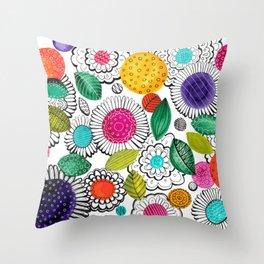 Floral Fun Throw Pillow