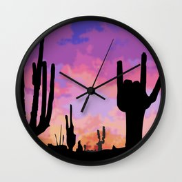 Signs seen in the Desert  Wall Clock