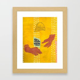 Salami Hand Man Framed Art Print