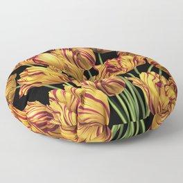 Royal Sovereign Tulips bouquet. Floor Pillow