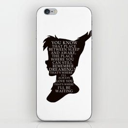 Peter Pan Quote - That Place iPhone Skin