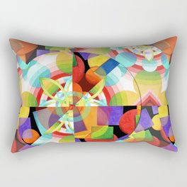 Prismatic Abstract Rectangular Pillow