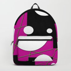 Geo Shape Play in Pink Backpack