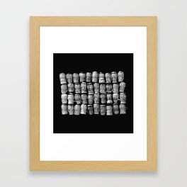 Something Nostalgic 4 Black and White #decor #society6 #buyart Framed Art Print