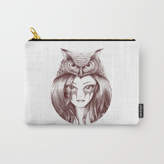 Owl Totem Girl Carry-All Pouch