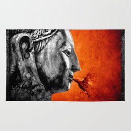 BUDDHA KISS - frame orange black version Rug