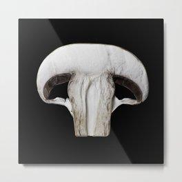 White Mushroom Metal Print