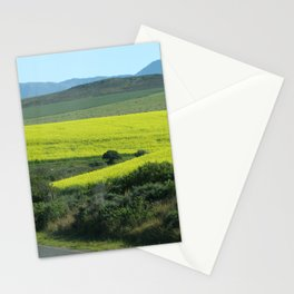 Rolling Hills and Meadows Landscape, South Africa Stationery Cards