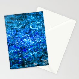 Water Color - Dark Blue - Navy Stationery Cards