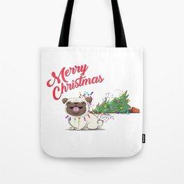 Koko Pug Christmas Tote Bag