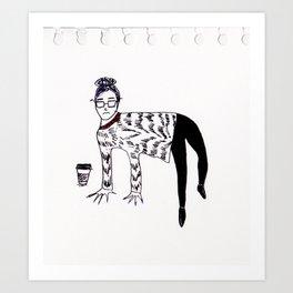 officeanimal Art Print
