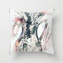 Dried Flower Arrangement Throw Pillow