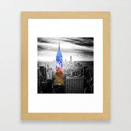 Funky Landmark - NY Framed Art Print