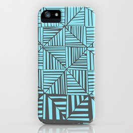 Red & Gray Pattern iPhone Case