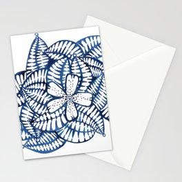 Indigo Frangipani Stationery Cards