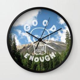 Good Enough - Demotivational Poster Wall Clock
