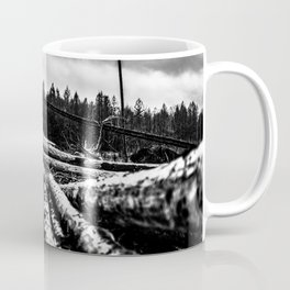 Poltery Site (Wood Storage Area) After Storm Victoria Möhne Forest 6 bw Coffee Mug