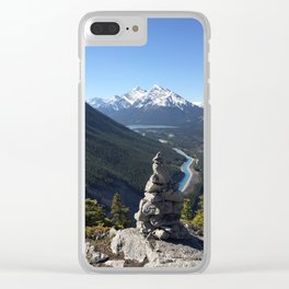 Mount Rundle, May 2015 - 001 Clear iPhone Case