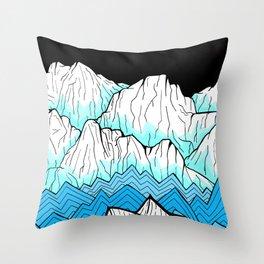 Antarctica mountains Throw Pillow