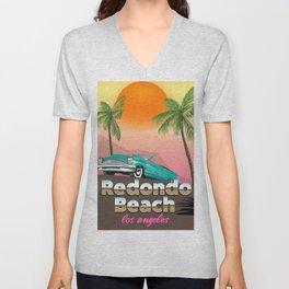 Redondo Beach Los Angeles Unisex V-Neck
