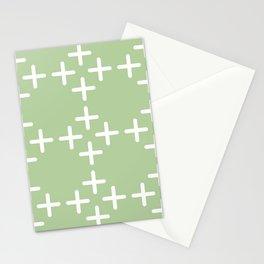 Minimal Glyph Art Green Stationery Cards