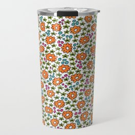 Ditsy Flora Orange Travel Mug
