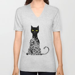 ornamental cat Unisex V-Neck