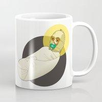 c3po Mugs featuring Baby C3PO by Fanny Öqvist Westerberg