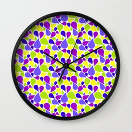 Spring color paislies Wall Clock