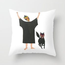 October: Fia and Wild Thing Throw Pillow