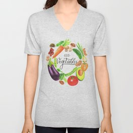 Eat vegetables Unisex V-Neck