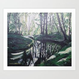 Forest playing with the sunlight Art Print